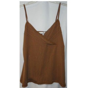 Apt 9 Camisole Top M Brown NEW Baby Doll Lace Cami